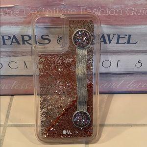 Case-Mate Rose Gold Glitter iphone 11 Plus Case
